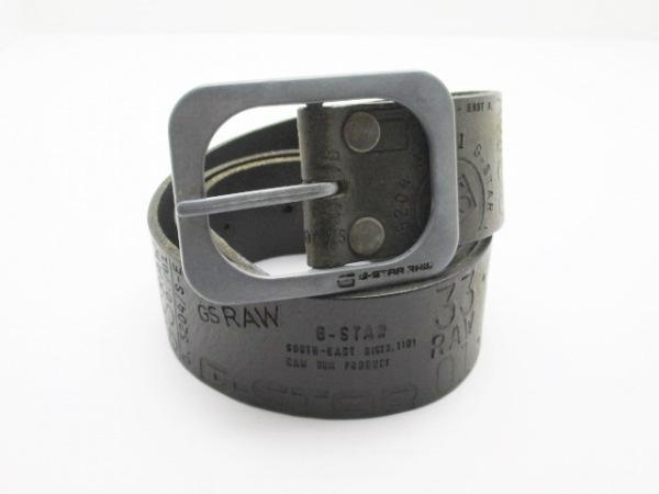 G-STAR RAW(ジースターロゥ) ベルト M ダークブラウン 型押し加工 レザー×金属素材