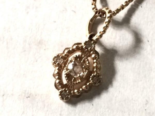 agete(アガット) ネックレス美品  K10×ダイヤモンド 0.06カラット