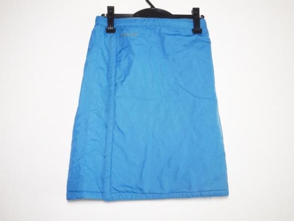 モンベル 巻きスカート レディース美品  ピーコックブルー×カーキ キルティング