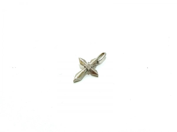 ノーブランド ペンダントトップ美品  K18×Pt950×ダイヤモンド クリア