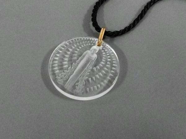 LALIQUE(ラリック) ネックレス美品  プラスチック×化学繊維 クリア×黒