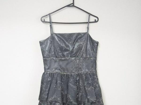 ジュネビビアン ドレス サイズ9 M レディース美品  ダークグレー ラメ/メッシュ