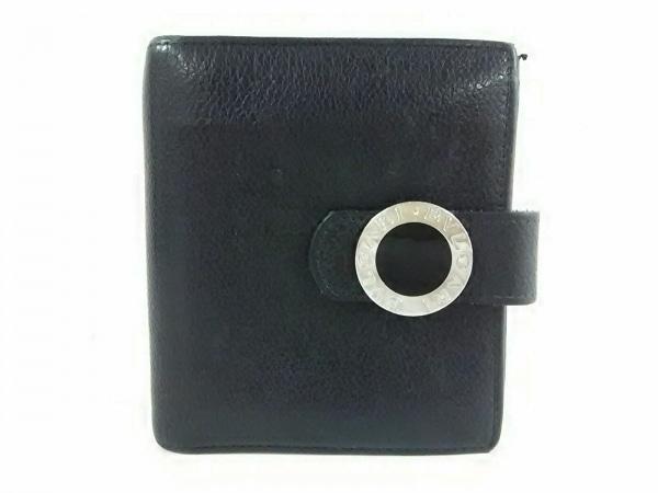 BVLGARI(ブルガリ) 2つ折り財布 ブルガリブルガリ 黒 ラウンドファスナー レザー