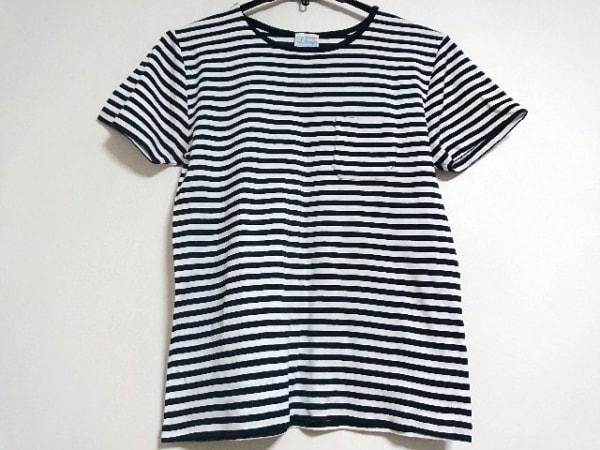 Letroyes(ルトロワ) 半袖Tシャツ サイズM メンズ美品  ダークネイビー×白 ボーダー