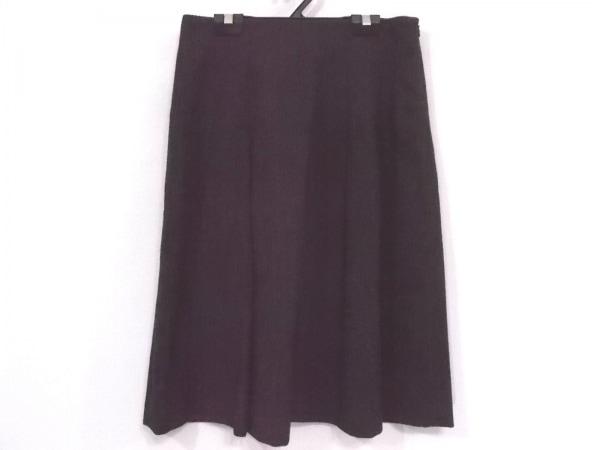 マーガレットハウエル スカート サイズ2 M レディース新品同様  黒×ダークブラウン
