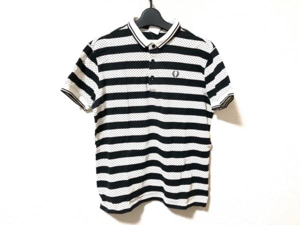 フレッドペリー 半袖ポロシャツ サイズL メンズ美品  白×黒 ドット柄/ボーダー