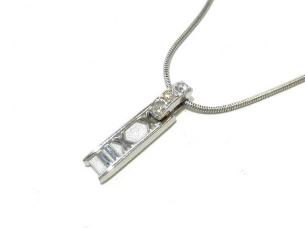 TIFFANY&Co.(ティファニー) ネックレス美品  アトラス K18WG×ダイヤモンド 3Pダイヤ