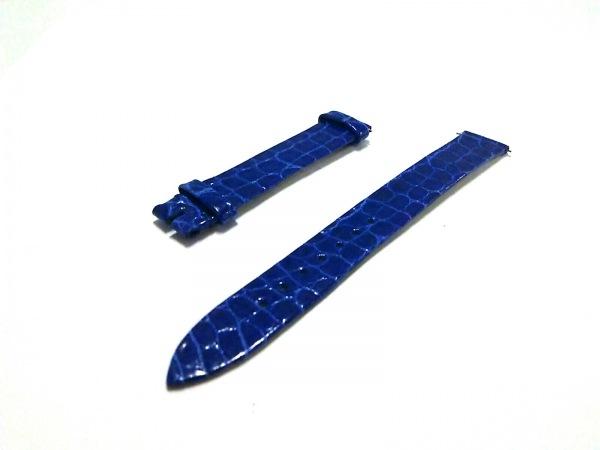 フランクミュラー 小物美品  ブルー 腕時計用替えベルト/型押し加工 レザー