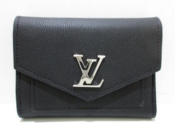 LOUIS VUITTON(ルイヴィトン) 3つ折り財布 ロックミー美品  M62947 黒