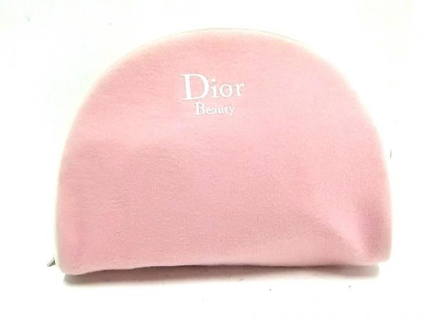 Dior Beauty(ディオールビューティー) ポーチ ピンク×白 コットン×キャンバス
