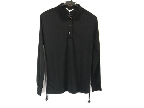 LEONARD(レオナール) 長袖ポロシャツ サイズL レディース美品  黒 SPORT