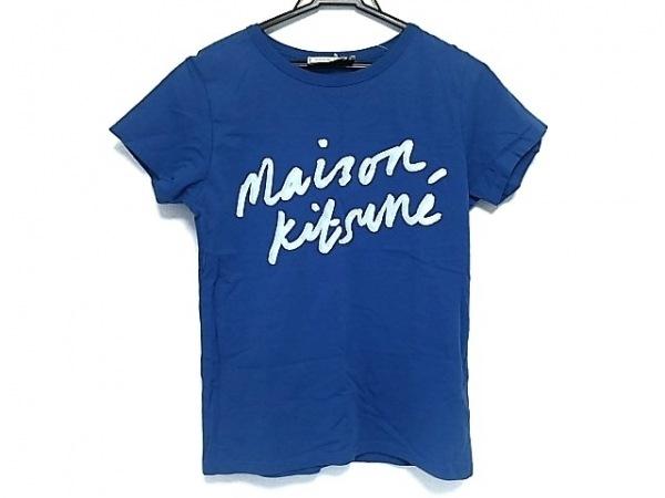 MAISON KITSUNE(メゾンキツネ) 半袖Tシャツ レディース美品  ブルー×ライトブルー