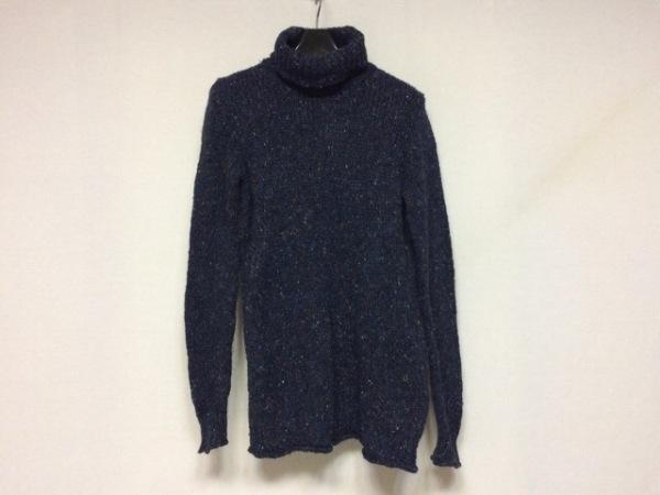 ロベルトコリーナ 長袖セーター サイズ40 M メンズ美品  ネイビー×マルチ