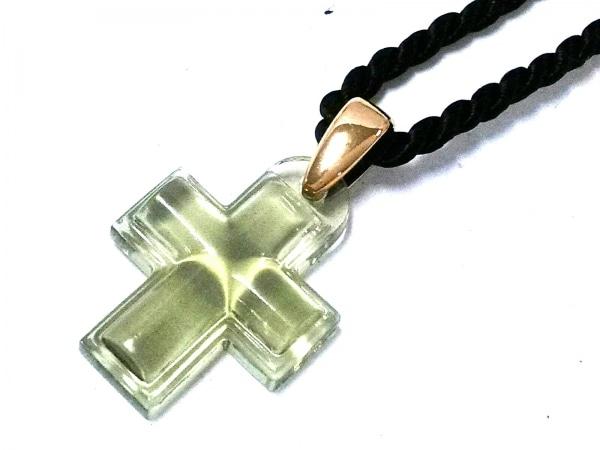 LALIQUE(ラリック) ネックレス美品  プラスチック×金属素材×化学繊維 クロス