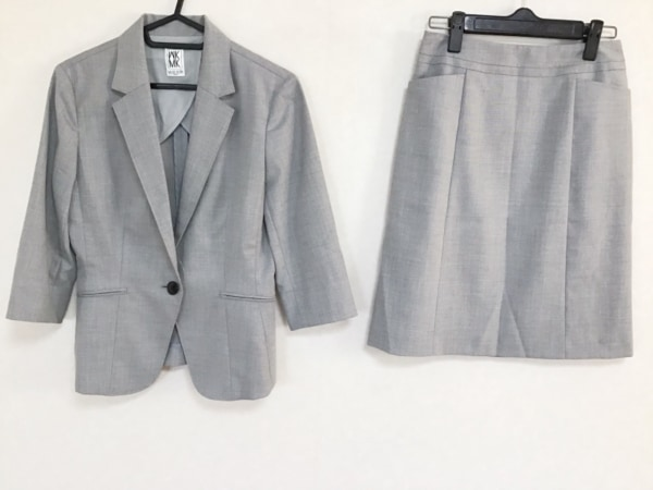 MICHELKLEIN(ミッシェルクラン) スカートスーツ サイズ36 S レディース グレー