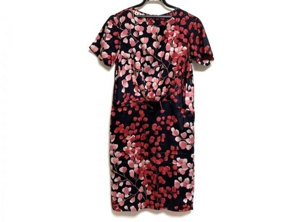 MARNI(マルニ) ワンピース サイズ38 S レディース 黒×レッド×ピンク 花柄