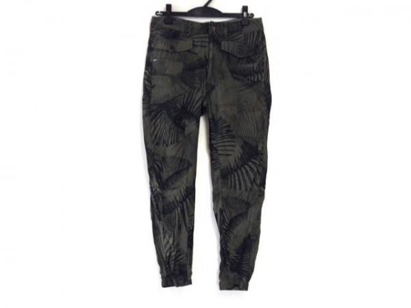 G-STAR RAW(ジースターロゥ) パンツ サイズ25 XS レディース カーキ×黒