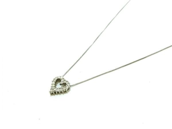 ノーブランド ネックレス美品  K14WG×ダイヤモンド クリア 総重量:1.1g/0.15刻印
