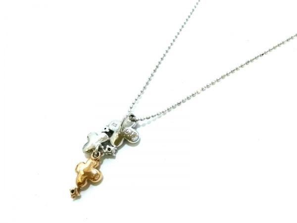 ノーブランド ネックレス美品  K18×K18WG×ダイヤモンド クリア