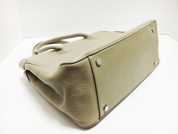 MAXIMA(マキシマ) ハンドバッグ グレーベージュ レザー