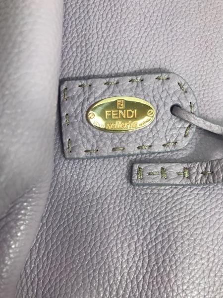 FENDI(フェンディ) トートバッグ セレリア 8BH099 パープル ローマンレザー