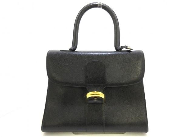 DELVAUX(デルボー) ハンドバッグ ブリヨンMM 黒×ゴールド レザー