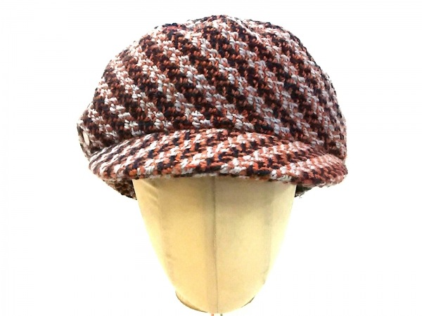 HERMES(エルメス) 帽子 57 セリエ H172022N M357 ブラウン×ネイビー×ライトグレー
