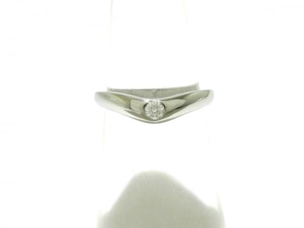 factory authentic 002aa 67049 ブルガリ リング美品 コロナリング Pt950×ダイヤモンド 1Pダイヤ/約0.03カラット