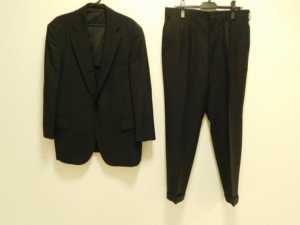 NEW YORKER(ニューヨーカー) シングルスーツ メンズ 黒 肩パッド