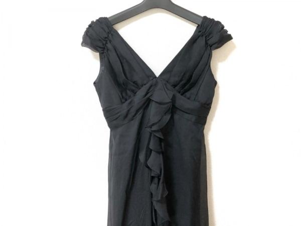La Defence(ラデファンス) ドレス サイズ9 M レディース美品  黒 ロング丈/フリル