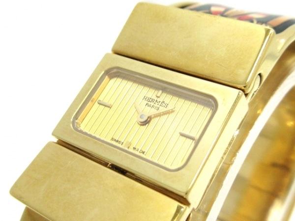 HERMES(エルメス) 腕時計 ロケ L01.201 レディース 馬柄 ゴールド