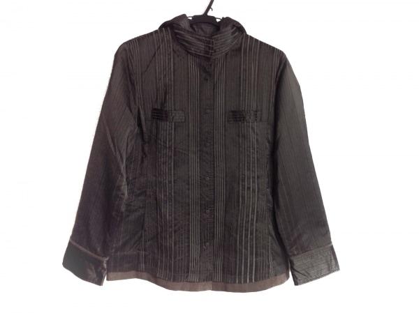 ビルダジュール ジャケット サイズ42 L レディース ダークブラウン ストライプ/中綿