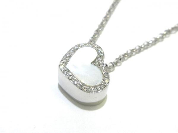 スタージュエリー ネックレス美品  K18WG×ダイヤモンド 0.14カラット/ハート