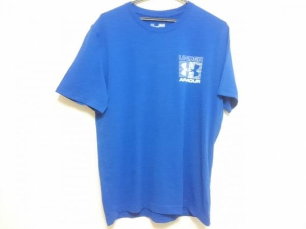 UNDER ARMOUR(アンダーアーマー) 半袖Tシャツ メンズ ブルー×白