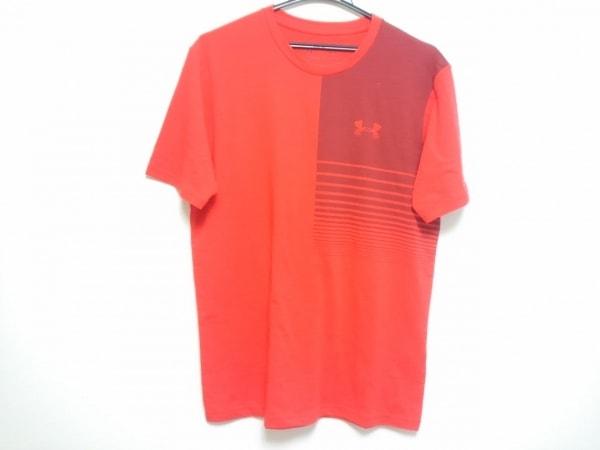 UNDER ARMOUR(アンダーアーマー) 半袖Tシャツ メンズ美品  レッド×ボルドー