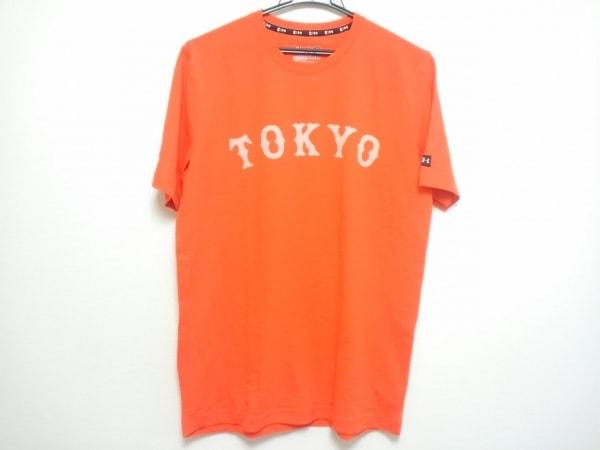 UNDER ARMOUR(アンダーアーマー) 半袖Tシャツ メンズ美品  オレンジ×白
