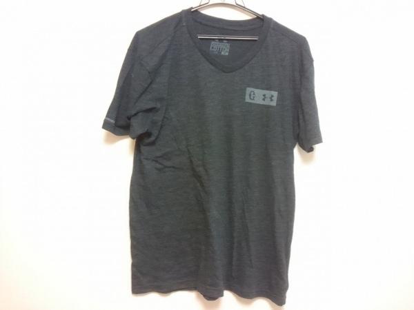 UNDER ARMOUR(アンダーアーマー) 半袖Tシャツ メンズ ダークグレー×ライトグレー