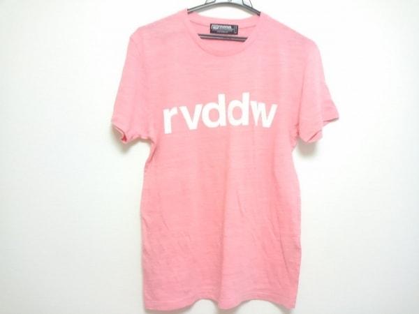 reversal バッグ(リバーサル) 半袖Tシャツ サイズM メンズ ピンク×白