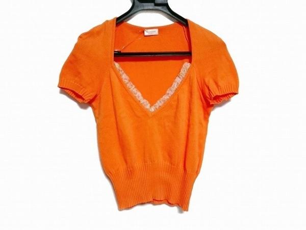 バレンチノローマ 半袖セーター サイズ42/6  レディース美品  ドット柄