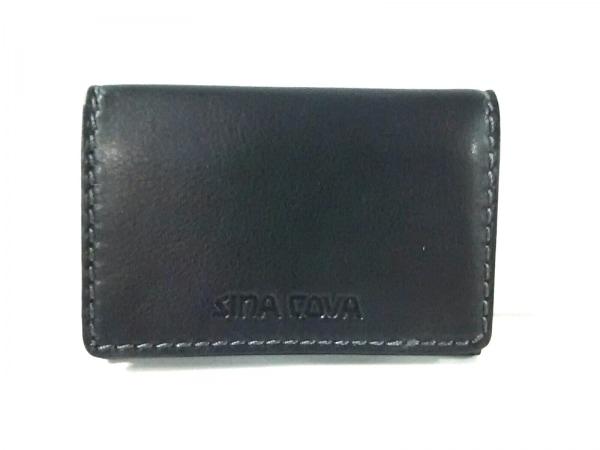 SINACOVA(シナコバ) カードケース美品  黒 レザー