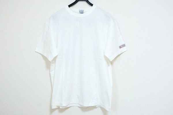 SINACOVA(シナコバ) 半袖Tシャツ サイズL メンズ美品  アイボリー×マルチ 刺繍