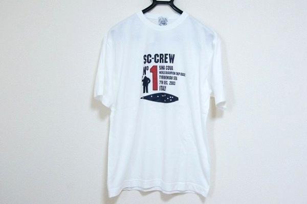 シナコバ 半袖Tシャツ サイズL メンズ美品  白×ダークネイビー×レッド LUPO DI MARE
