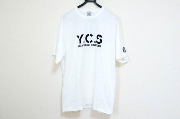 シナコバ 半袖Tシャツ サイズLL メンズ美品  白×ダークネイビー LUPO DI MARE