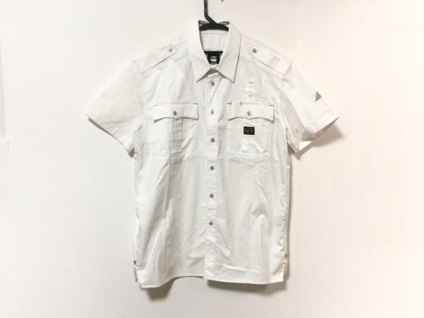 G-STAR RAW(ジースターロゥ) 半袖シャツ サイズXL メンズ 白