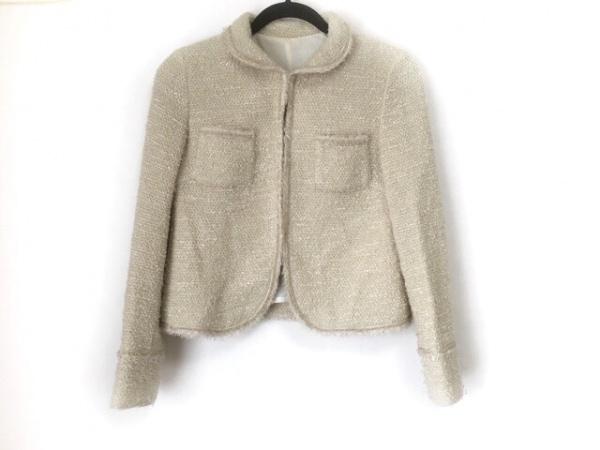 ユナイテッドアローズ ジャケット サイズ38 M レディース美品  ベージュ×ゴールド