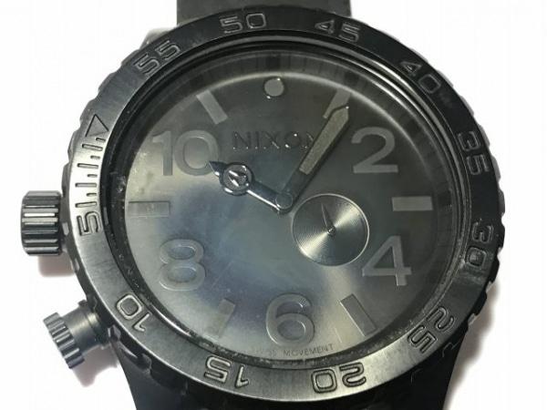 NIXON(ニクソン) 腕時計美品  SIMPLIFY THE51-30 メンズ ラバーベルト 黒