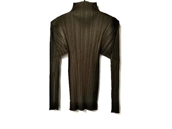 プリーツプリーズ 長袖Tシャツ サイズ3 L レディース美品  カーキ プリーツ