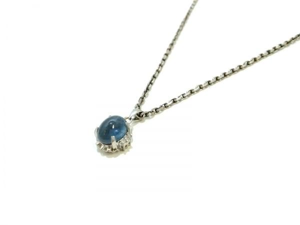 ノーブランド ネックレス美品  Pt850×Pt900×ダイヤモンド×カラーストーン