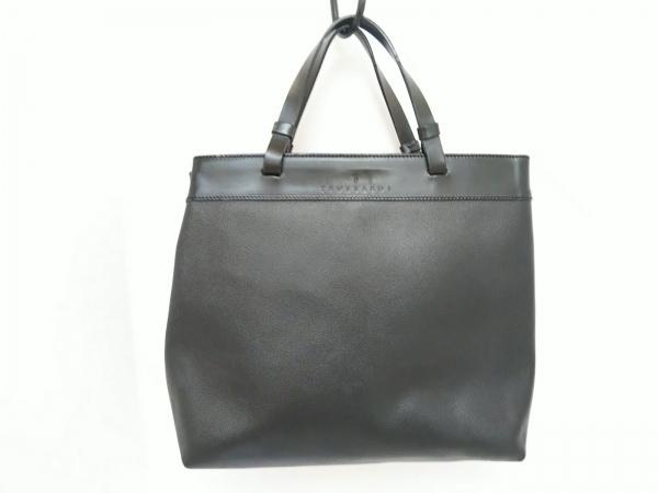 TRUSSARDI(トラサルディー) トートバッグ 黒 PVC(塩化ビニール)×レザー