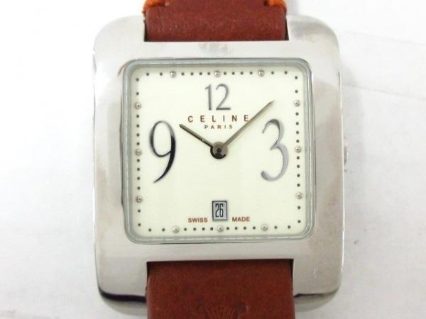 CELINE(セリーヌ) 腕時計美品  - レディース 革ベルト アイボリー